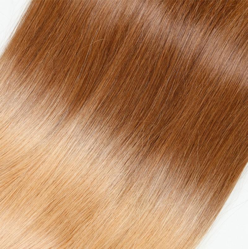 Sleek 10A Maiden Straight Bulk Hair Ombre Human Hair Colorful Hair For White Women Brazilian Virgin Hair 3pcs/lot FAST Shipping