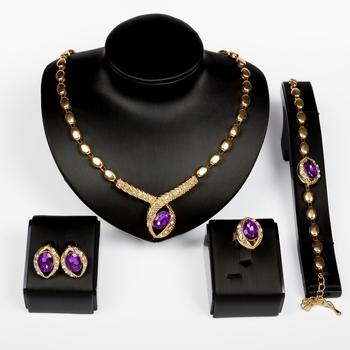 Горячая распродажа новинка инкрустация ожерелье браслет кольцо серьгу ювелирные комплект ...