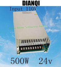 power suply 24v 500w input 110v ac to dc power supply ac dc converter high quality led driver S-500-24(China (Mainland))