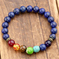 Cool Man Lava Rock Beaded Stretch Bracelets Mala Energy Bracelet Fashion Jewelry Best Gift 2 Color