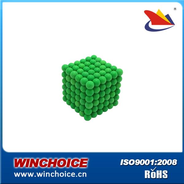 Green color 5mm Neoballs iron box packing neocube magnetic balls(China (Mainland))