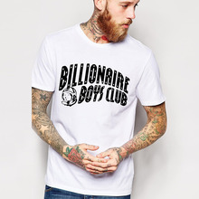 Free Shipping BILLIONAIRE BOYS CLUB T-Shirt BBC T Shirts Men Hip Hop Cotton tshirt O Neck billionaire Man Tops Shirt Euro Size