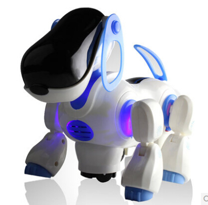 2015 new Lovely Robot Robotic Electronic Walking Pet Dog Puppy Kids Toy with Music Light electric doll baby kids brinquedos new(China (Mainland))