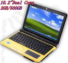 New ! E-flash 10.2inch computer window 7 laptop the intel atom laptop intel N2500 notebook 2GB/500GB