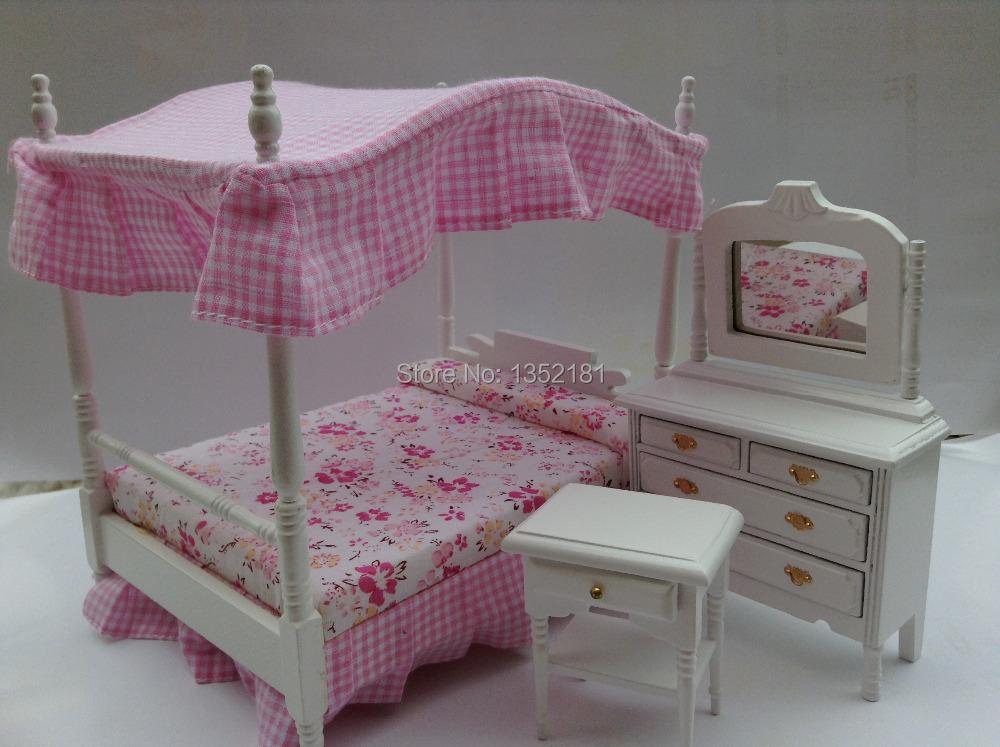 Buy 1 12 cute dollhouse miniature mini for Cute bedroom furniture
