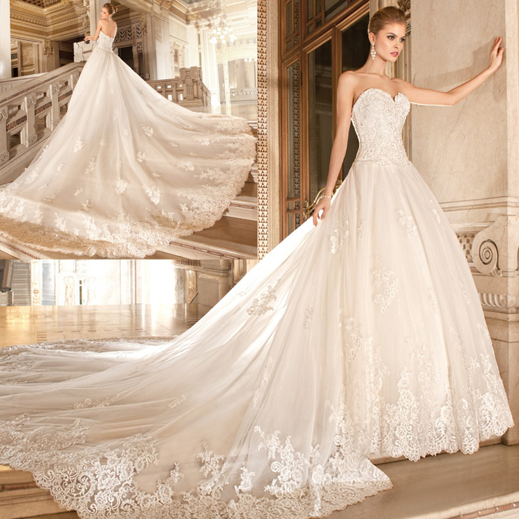 wedding dress long train from reliable dress train pattern suppliers