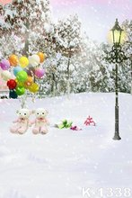 Beautiful Snow Theme Backdrops For Photo Studio Props Background Wedding/Baby/Children Romance Photography Backdrops 1.5X2m Fond