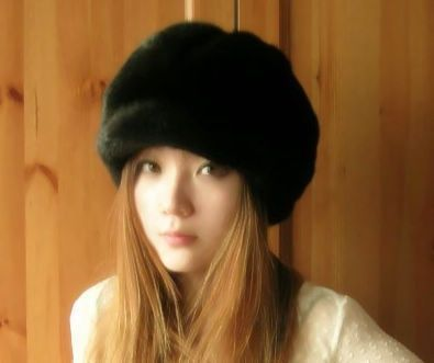 Autumn and winter thermal Women women's full leather mink fur hat