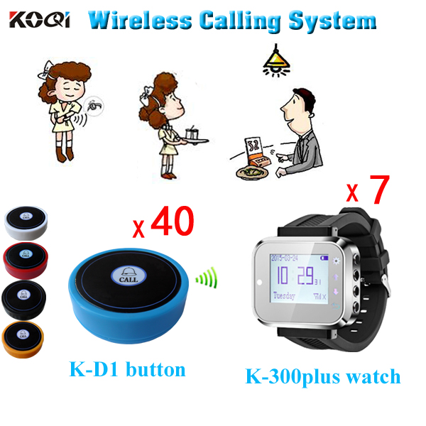 led Wrist Watch Pager Patient Nurse Call System Coaster Guest Button Communication Device Personal Vibrating Pager System(China (Mainland))