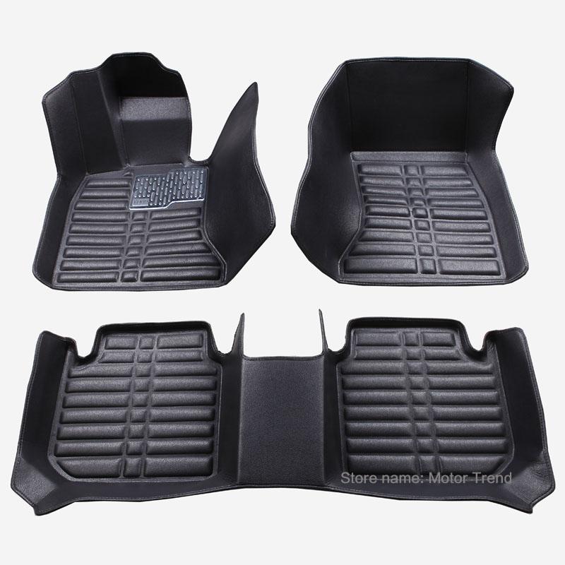 Custom fit car floor mats for Audi A1 A3 A4 B8 B7 B6 B5 A6 C6 C7 A8 A8L Q3 Q5 Q7 heavy duty car styling carpet foot case liner(China (Mainland))