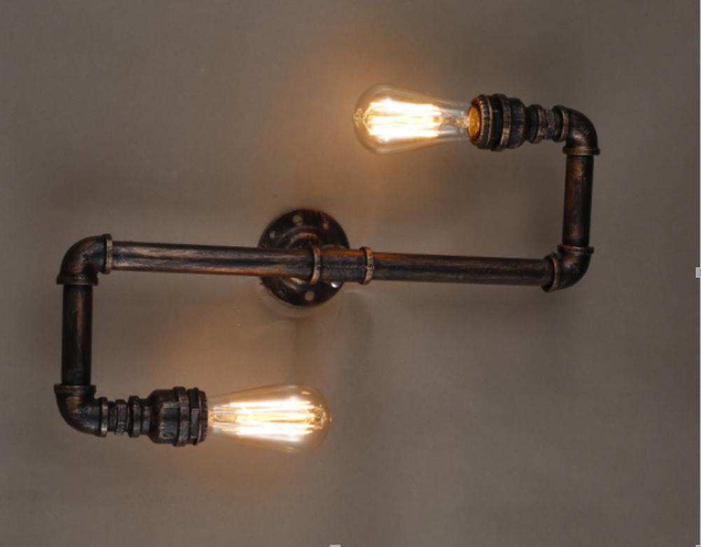 Купить Водопровод бра Старинные Ретро Медь Железо Промышленного Чердак Бра свет склад Рядом Лампы бар ресторан lampara