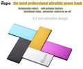 iRepie 9mm Ultrathin Portable Aluminum 10000mah Power bank 8000mah External Battery Pack For iphone 5 6