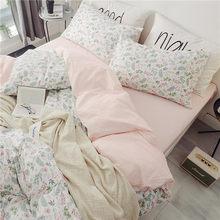 100%Cotton Twin Queen Bedding Set King size Bed Fitted sheet Kids Girls Bed set Duvet cover Pillows ropa de cama parrure de lit(China)