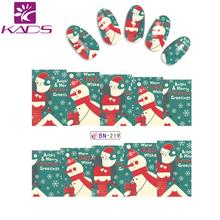 BN219 Christmas water transfer nail sticker nail sticker decoration Snowman & Snowflake & Red scarf & hat nail sticker design(China (Mainland))