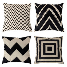 Buy 4 Styles 45*45cm Vintage Cushion Cover Fashion Cotton Linen Decorative Cushion Covers Throw Pillow Covers for $2.57 in AliExpress store