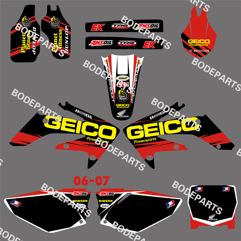 DST0140 New Style TEAM GRAPHICS&BACKGROUNDS DECALS STICKERS Kits HONDA CRF250 CRF250R 2004 2005 2006 2007 2008 2009 - Jinhua Bode Industry & Trading Co., Ltd. store