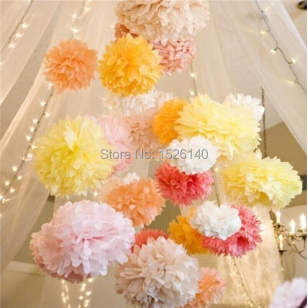 10 cm 4 Inch 226 Colors Paper Flowers Ball Wedding/Party/Birthday Decoration Even&Party Supplies Whloesale - Yiwu Lady Loo Balloon Factory store
