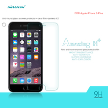 NILLKIN Amazing H+ 2.5D arc edge 0.3mm Anti-Explosion Tempered Glass Screen Protector Film For iPhone 6S Plus/iphone 6 plus(5.5″
