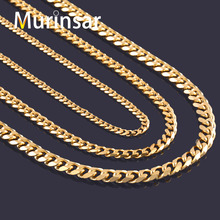 Buy Width 3.6mm/5mm/7mm Stainless Steel Gold Chain Men Necklace Gold Filled Stainless Steel Link Chain Necklace Free for $1.20 in AliExpress store