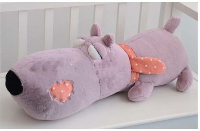 Фотография big lovely Plush dog pillow toy purple lying unlucky dog doll birthday gift about 85cm