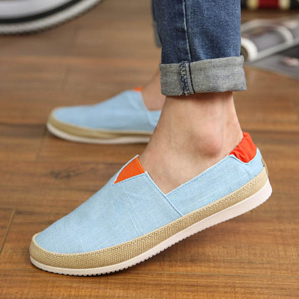 Size 39-44 Hot Sale Fashion Low Style Men's Canvas Patchwork Slip On Breathable Casual Sneakers Men Flats Shoes LSM112(China (Mainland))