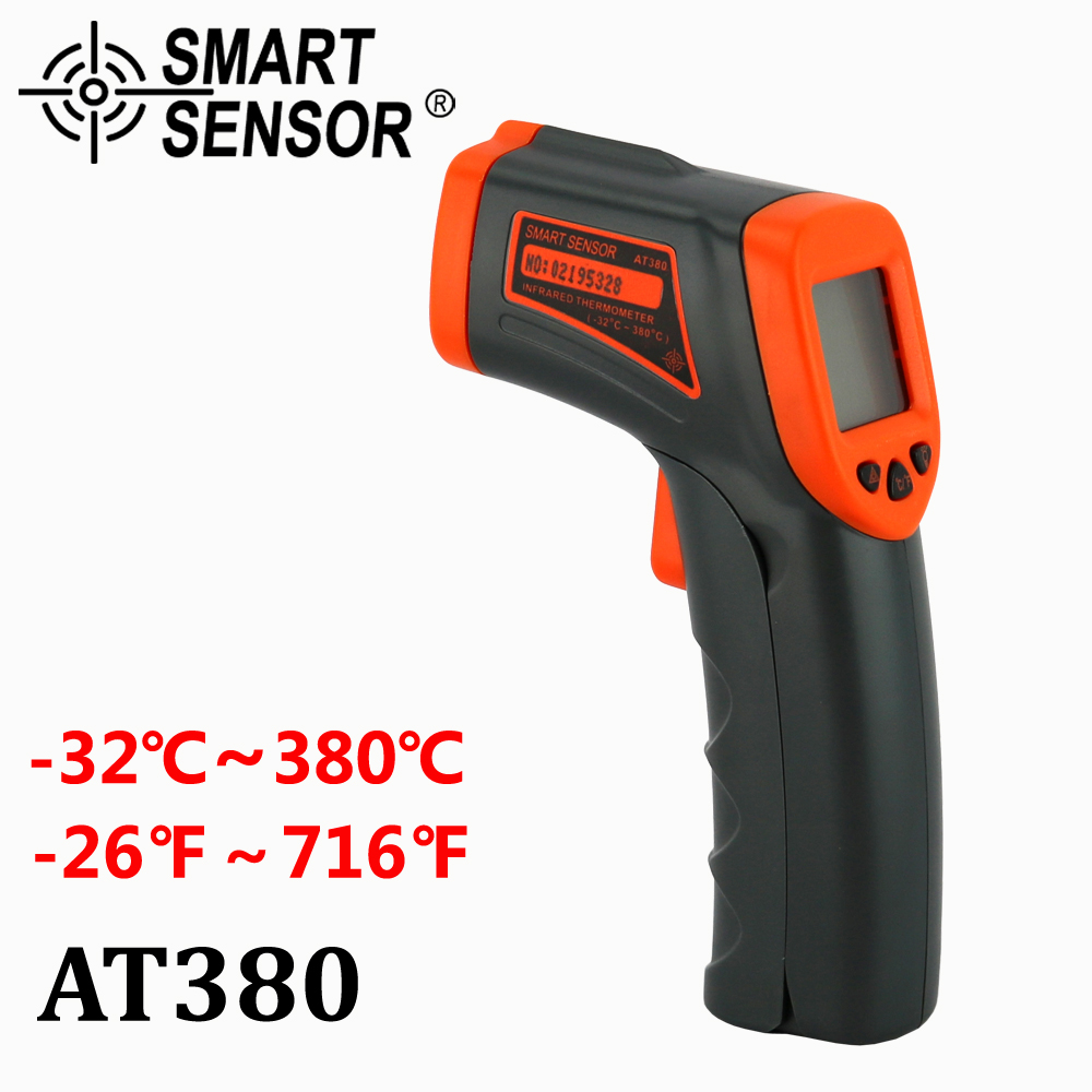 AT380 Digital Infrared Thermometer LDC IR -32~380 C Non-Contact IR aquarium Laser Gun Pyrometer temperature Thermometer Meter(China (Mainland))