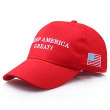 [SMOLDER] Donald Trump 2020 fazer a América Grande Novamente Eleição Caps Bordado Equipado Chapéu Snapback do Boné de Beisebol do Algodão Ocasional(China)