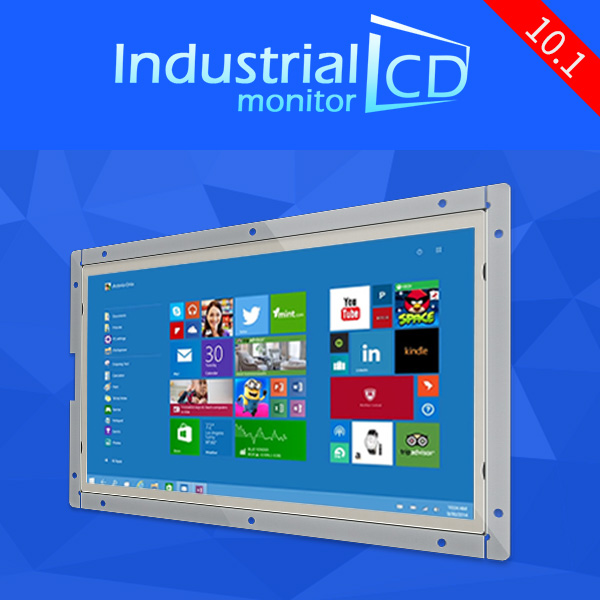 Industrial 10.1 inch open frame LCD monitor PC 10 inch 1280*800 IPS panel widescreen LCD monitor for sale(China (Mainland))