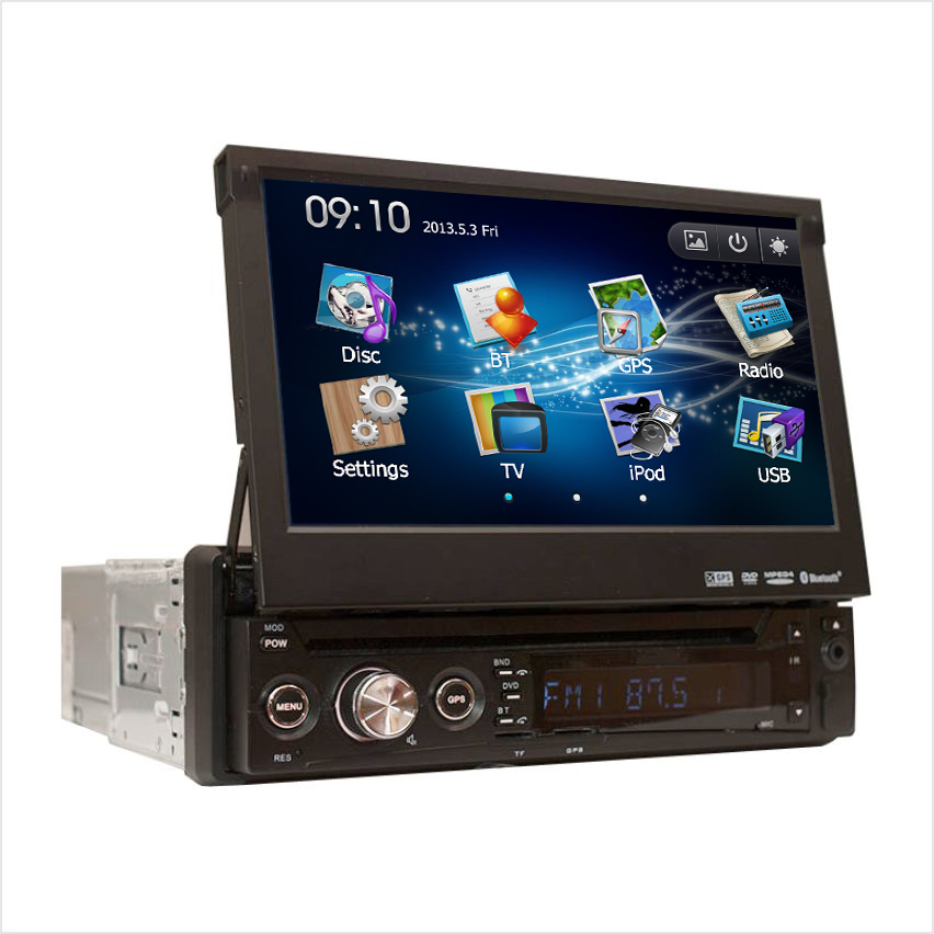 """JSTMAX 1 one Din 7"""" universal inch Car DVD player with GPS Navigation,FM audio Radio stereo,USB/SD,BT, touch screen(China (Mainland))"""