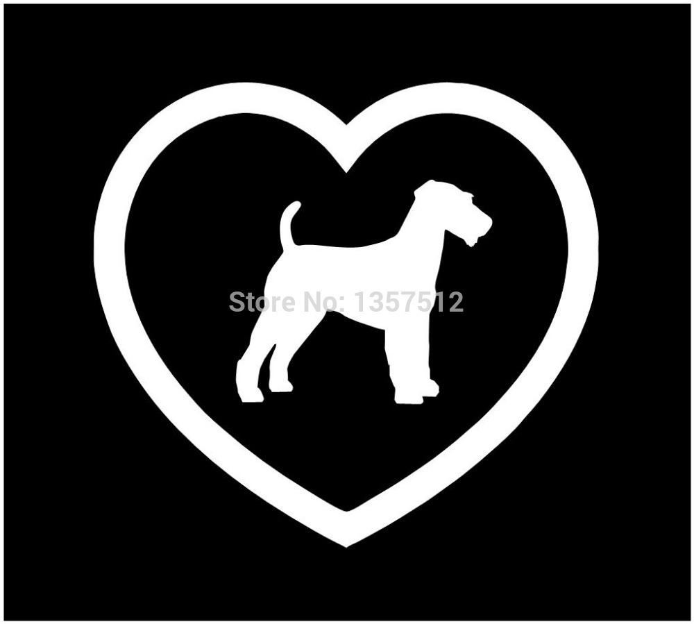 Wholesale 50 pcs/lot I Love Fox Terrier Foxy Heart Dog Car Sticker For Truck Window Door Kayak Vinyl Decal 8 Colors(China (Mainland))