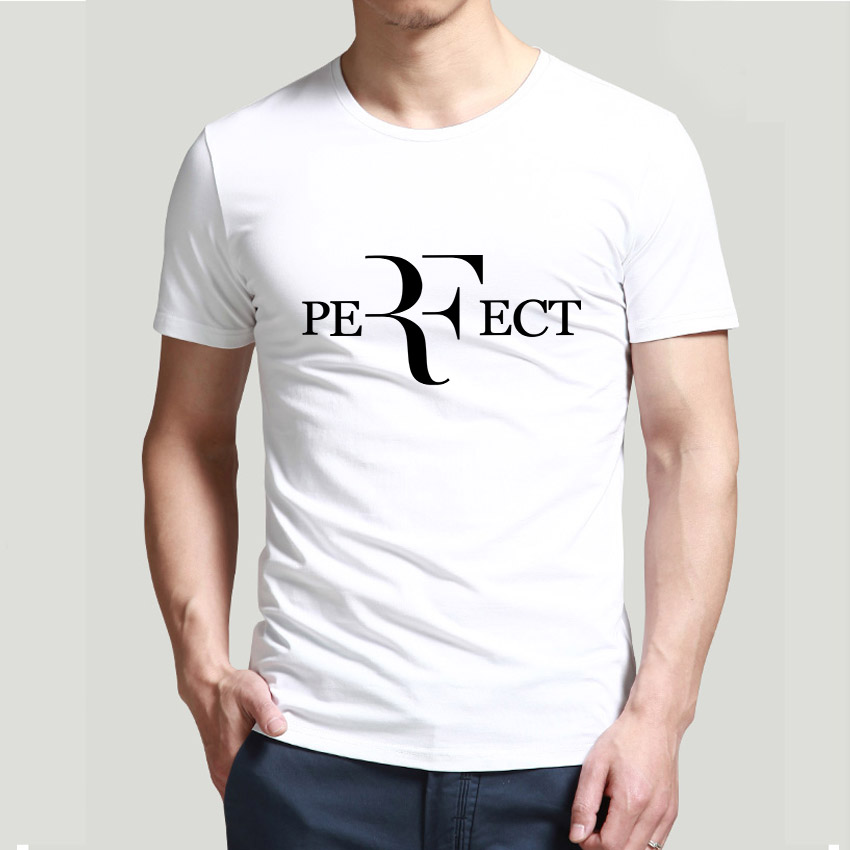 Men Fashion roger federer tennis t shirts RF Perfect Letters Design t-shirt Short Sleeve Cotton Tee Shirts(China (Mainland))