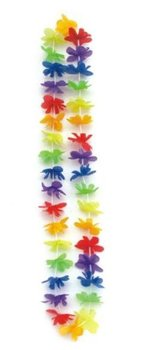 50pcs Party Decoration Hawaiian Flower Leis Garland Hawaii Wreath Cheerleading Products Artificial Silk Flowers HH0009