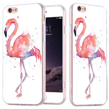 Case For iPhone 5 5S 6 6S Plus Ultrathin Soft TPU Crane Artistic Painting Fashion Cover For Samsung Galaxy S4 S5 S6 Edge Plus S7(China (Mainland))