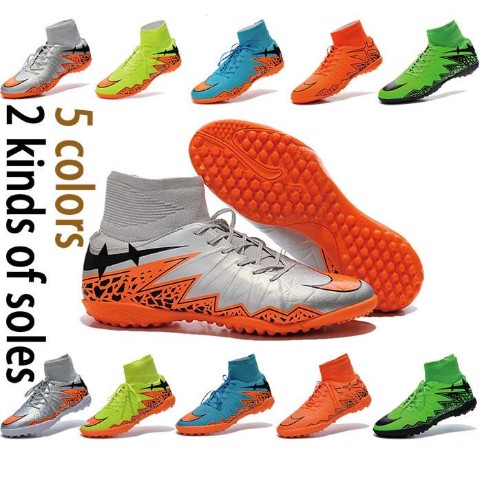 2015 New decorative design sneakers Breathable high ankle indoor Hypervenom 2 football boots Superfly Indoor Soccer shoes(China (Mainland))