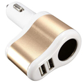 free shipping 12V Universal Dual Ports Usb One Way Car Cigarette Lighter Power Socket Charger Adapter