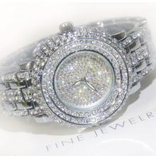 2016 Venda Quente Mulheres Relógios Senhora Rhineston Pedra de Diamante Dress Watch Ouro Prata Aço Inoxidável relógio de Pulso Relógio De Cristal do  Feminino