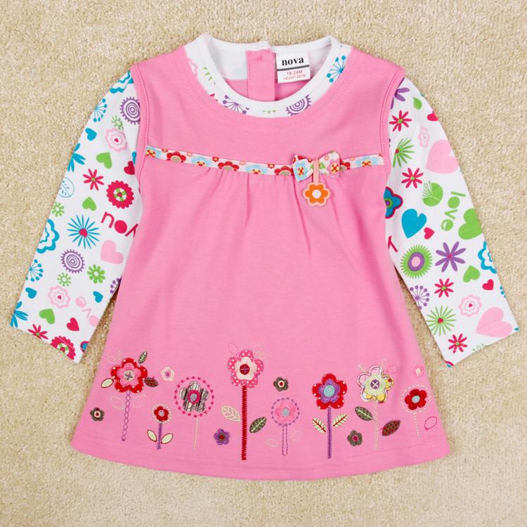 girl dress nova kids toddler party baby children clothing 2015 autumn jean wear
