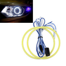 2pcs 60/70/80/90/100/110mm Car 12V COB LED CCFL Halo Rings Angel Eyes DRL Fog Light Head Lamp White Free Shipping(China (Mainland))