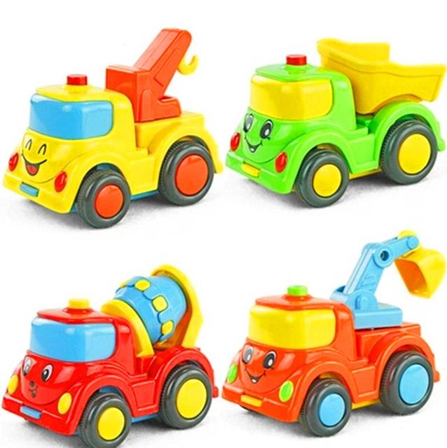 Строительство города строительство серии детских игрушек мини-автомобиля смайли грузовик назад автомобиль инерциальная WJ125