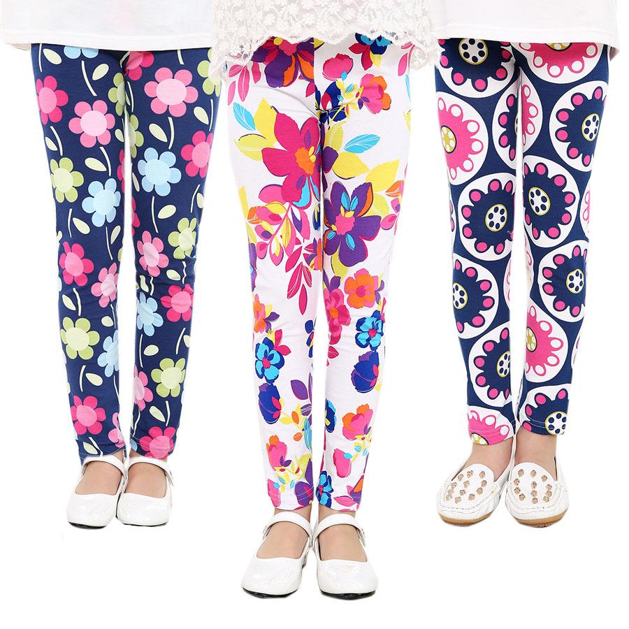 Baby Kids Childrens printing Flower Toddler Classic Leggings girls pants Girls legging 2-14Ybaby girl leggings(China (Mainland))