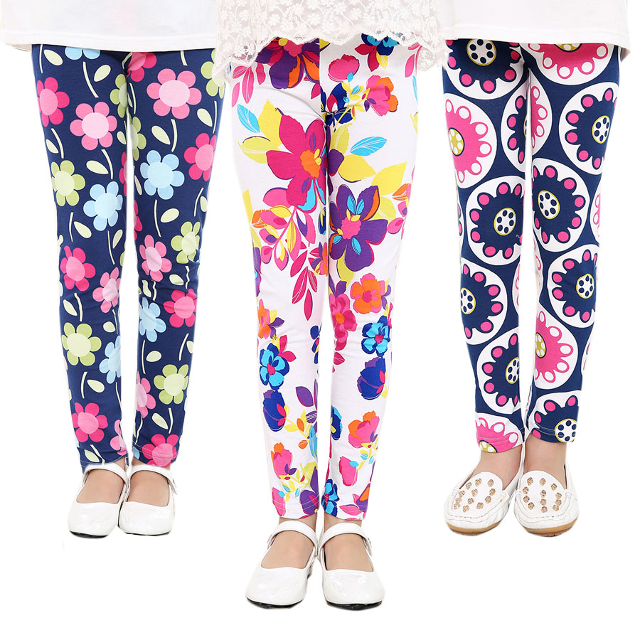 Baby Kids Childrens printing Flower Toddler Classic Leggings girls pants Girls legging 2-14Ybaby girl leggings(China (Mainland))