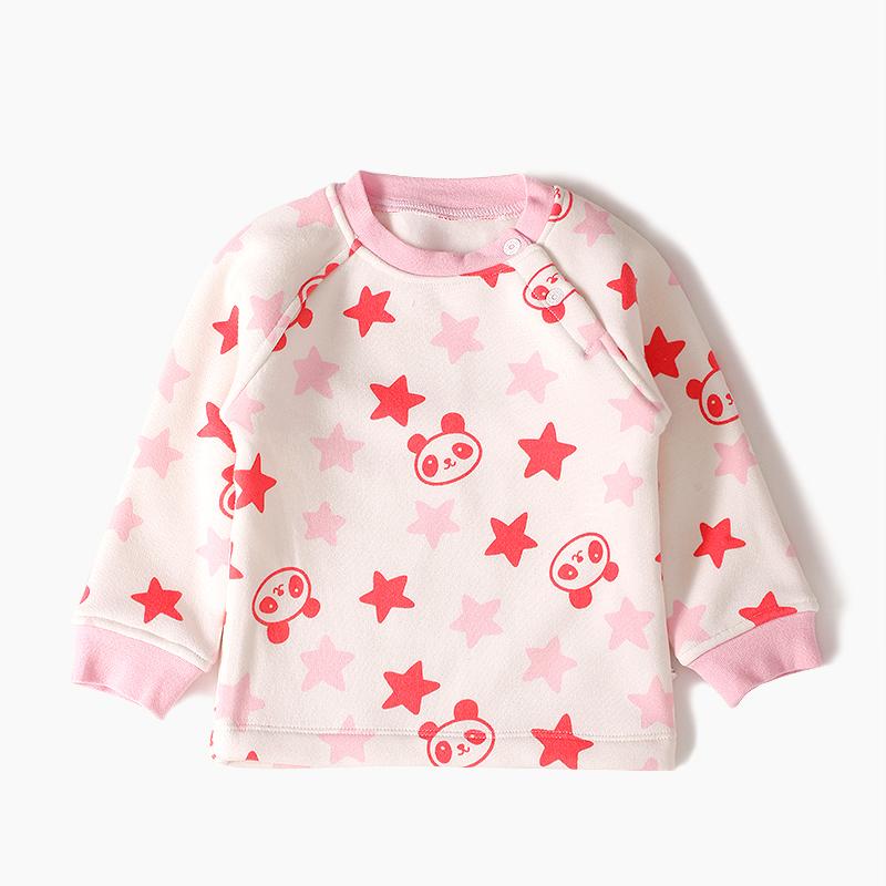 GOTS Certificate Wholesale 12pcs organic cotton round neck baby fleece printing plant dye long johns shirts<br><br>Aliexpress