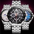 BOSCK 3123 luxurious leisure men s watch high end quartz watches calendar waterproof fashion watches business