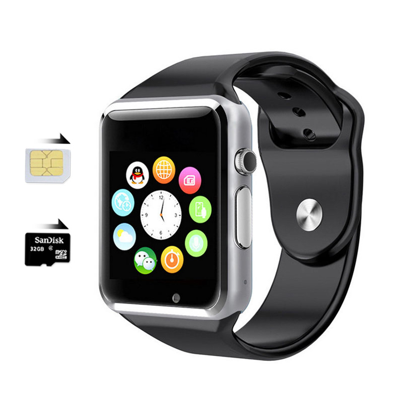Newest Bluetooth smart watch W8 WristWatch sport Pedometer TF card Smartwatch for IOS iphone Samsung Android Smartphone With SIM