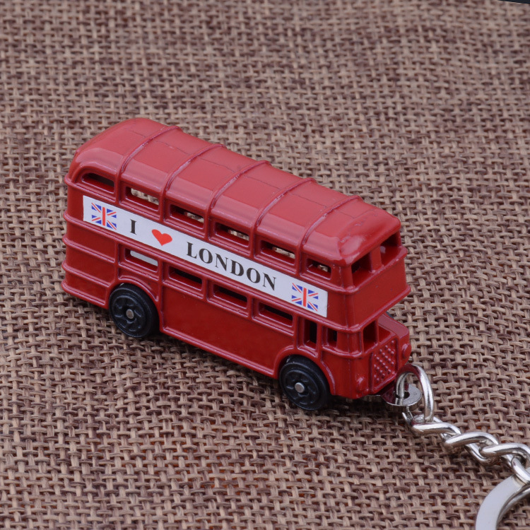 KC-98 exquisite UK i love london red bus key chains high quality Personality silver plated KeyChains(China (Mainland))