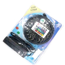 Buy Black PCB 5050 RGB LED Strip Waterproof 300 Led Flexible Strip Light Led Tape + 24 Key IR Controller + 12V 5A Power Supply Kit for $294.80 in AliExpress store