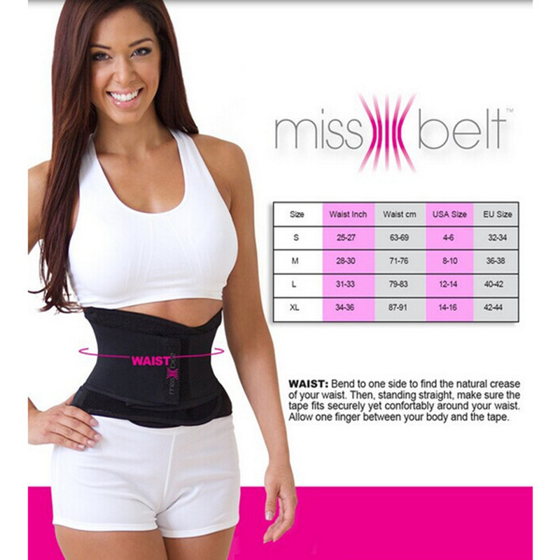 2016 Newest Miss Belt Slimming Shaper Sports Waist Tummy ...