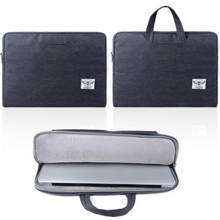 "new business style dark gray denim Sleeve hand Bag Case for macbook 11"" 12"" 13"" Messenger laptop Notebook Computer Bag Ultrabook(China (Mainland))"