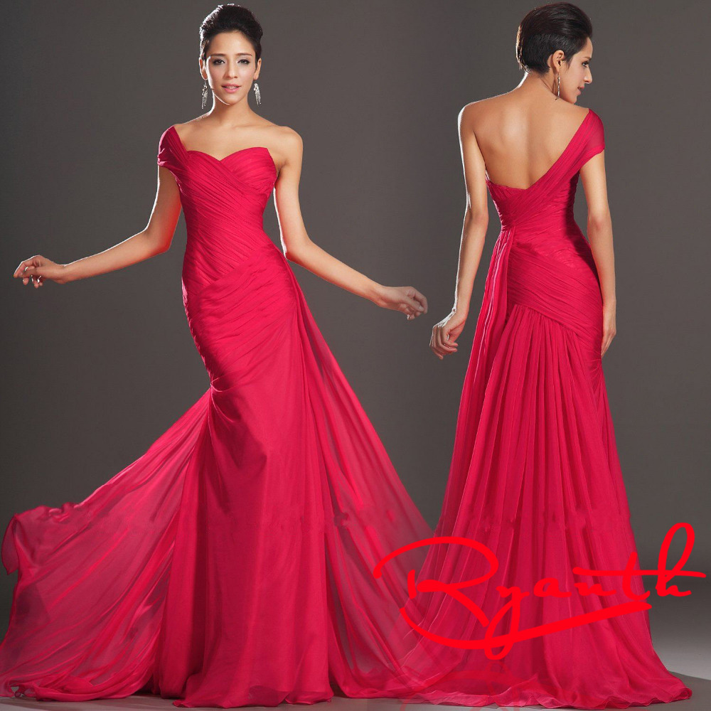 Vestido De Festa Longo 2015 One-Shoulder Mermaid Long Formal Evening Dresses Sweetheart Prom Gown RBES01 - Miss Meeo Pressional Customize store