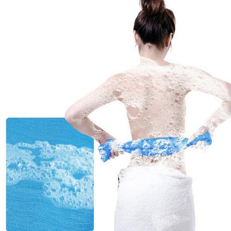 Hot Exfoliating Nylon Bath Shower Body Cleaning Washing Scrubbing Cloth Towel Sponges & Scrubbers